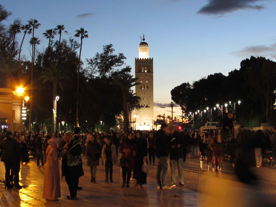 Vacanță în Maroc. Moscheea Koutoubia din Marrakech.
