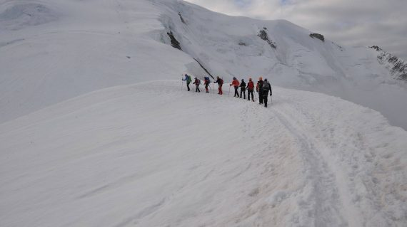 În drum spre Mont Blanc