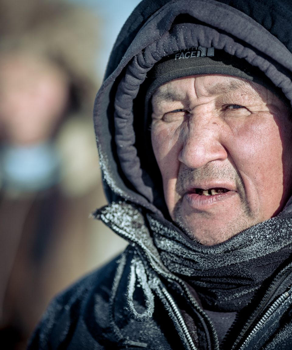 Portrait of a dog musher, Ilulissat in Greenland