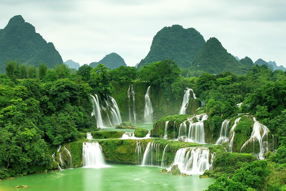 Cascada Ban Gioc, vizitată în acest circuit în Vietnam