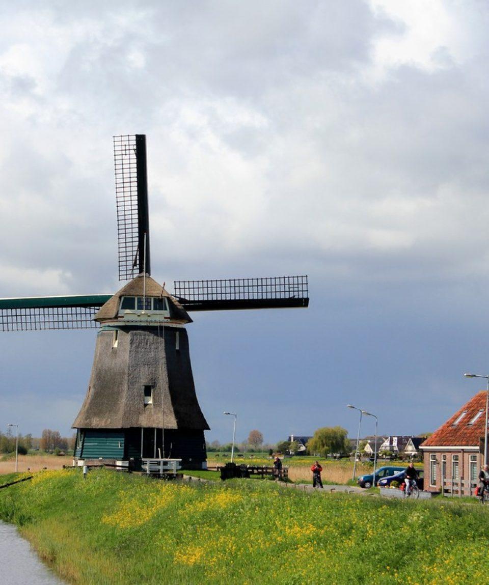 Moară de vânt în Olanda