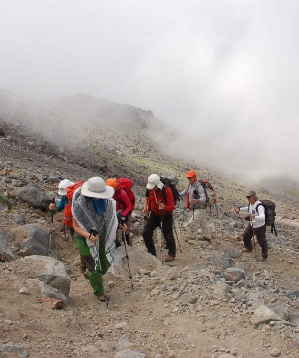Traseu spre a doua tabără de pe Ararat