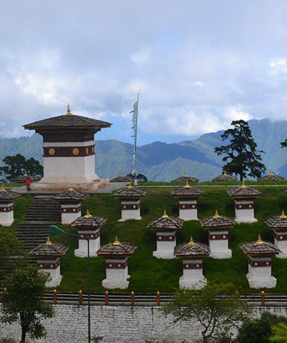 Pasul Dochula din Bhutan