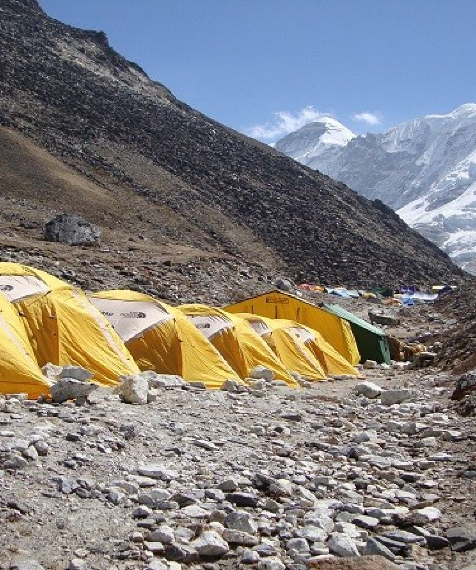 Tent camp in Nepal