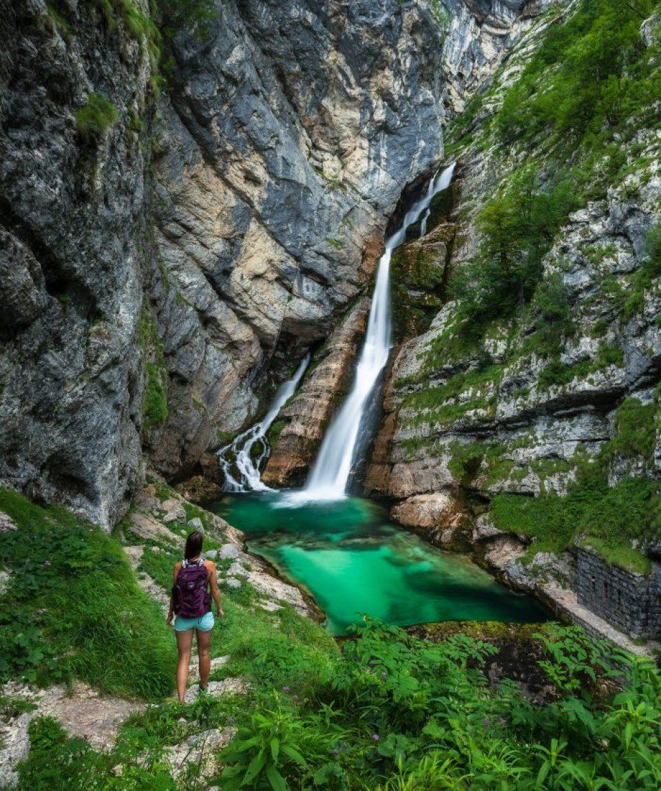 Cascada Savica din Slovenia