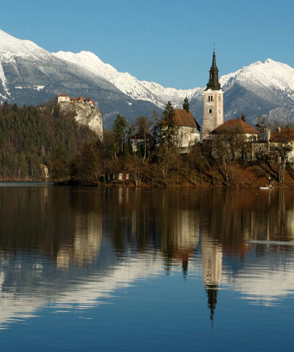 Cu bicicleta în Slovenia - Lacul Bled
