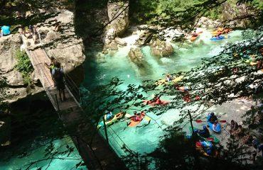 Defileul râului Soca din Slovenia