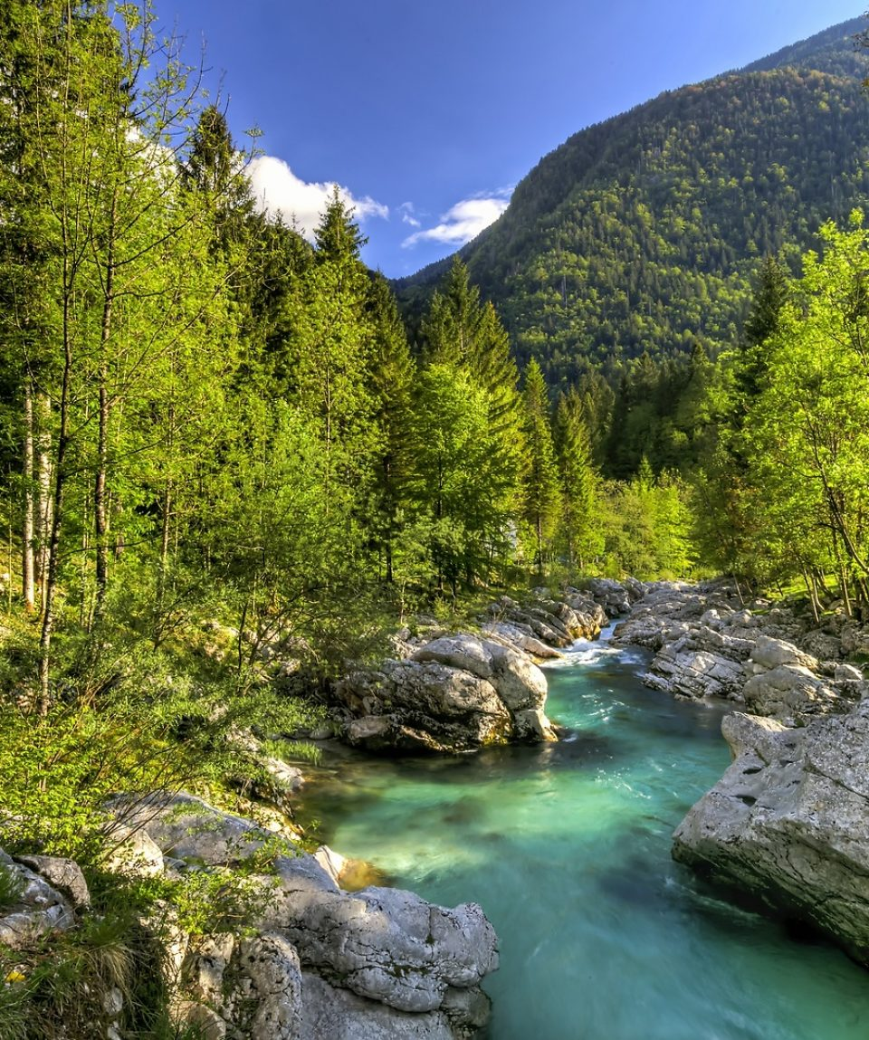 Râul Soca din Slovenia