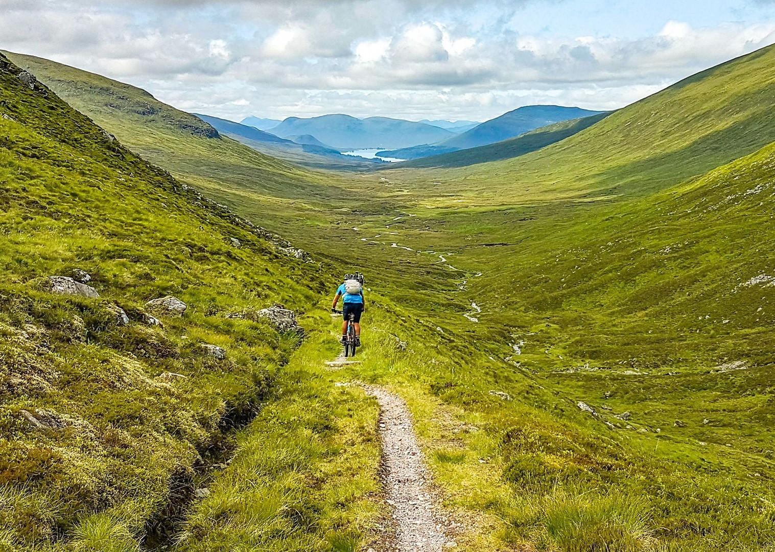 Traseu de biciclete în Scoția