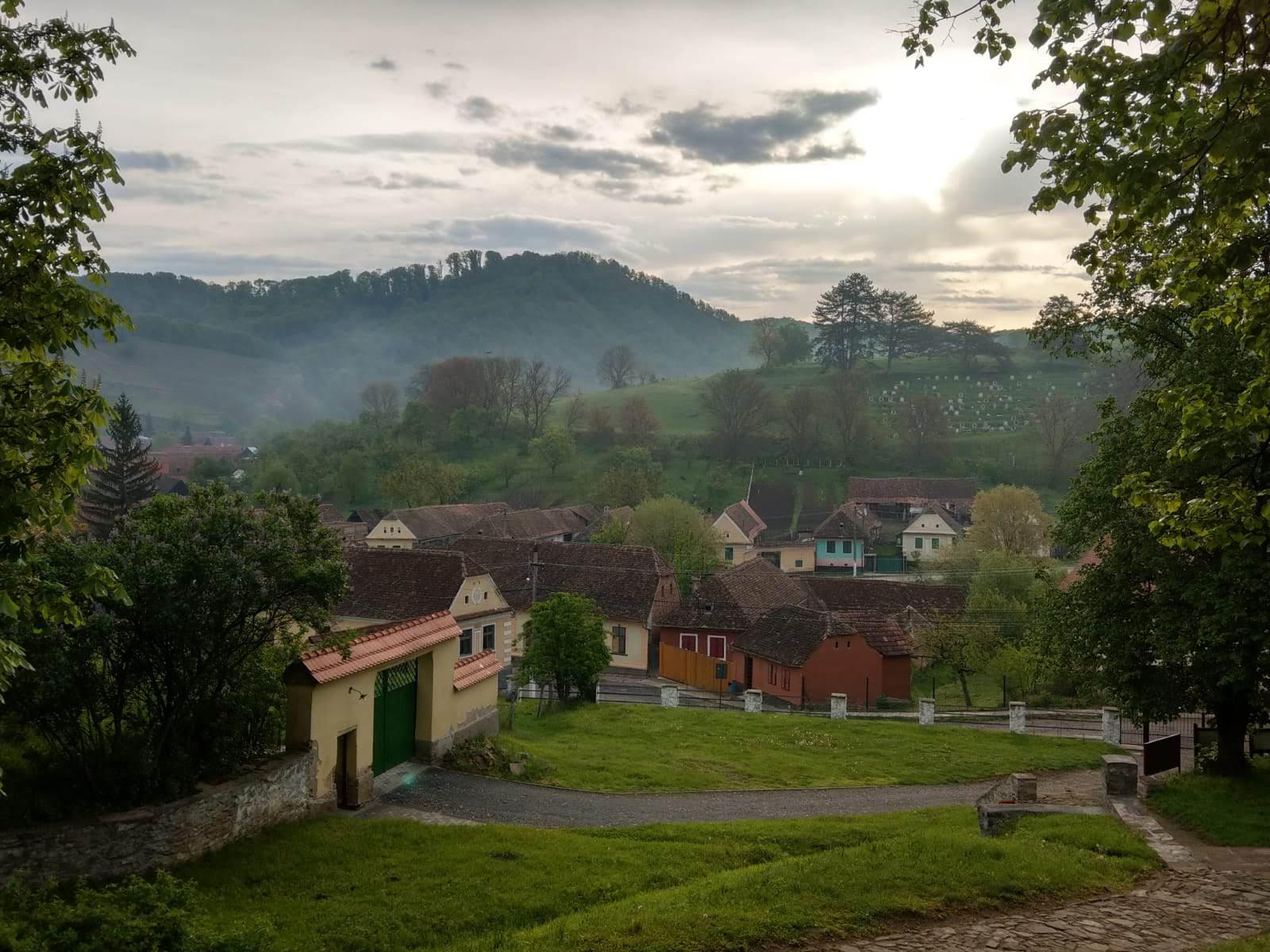 Pe bicicleta in Transilvania - peisaj rural